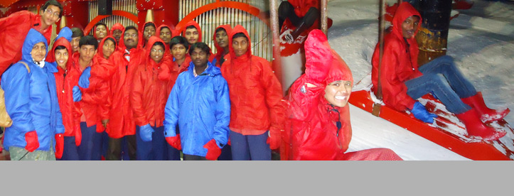 Visit of Snowworld at Hyderabad